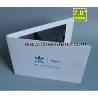 China Adidas customized A5 size 7 Inch TFT LCD video card video greeting card video brochure wholesale