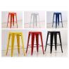 China YLX-1108 Aluminium/Steel Loft Styl Square Seat Dining Chair wholesale