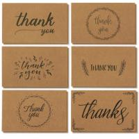 China Handwritten Style Holiday Greeting Cards , Kraft Paper Thank You Greeting Cards wholesale