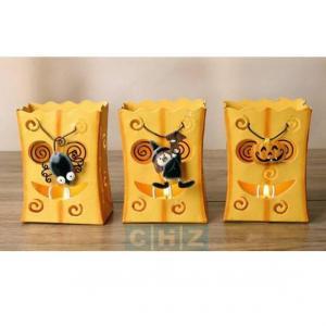 China Halloween Metal food bag Tea Light holder wholesale