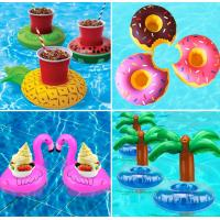 Quality Watermelon Inflatable Drink Holder Thick Waterproof Material With 4 Slots for sale