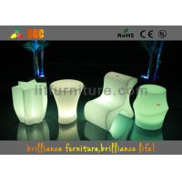China Hotels Led Cube Chair With Wireless Remote Control And CE , ROHS ,UL wholesale