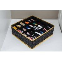 China Black Foldable Drawer Organizer , 24 Cells Collapsible Drawer Dividers wholesale
