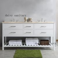 China Luxury style Bathroom Vanity double sink cabinet without mirror wholesale