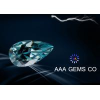 China Colored Blue Pear Cut Moissanite Loose Stones Small Size 2.5 x 4.5 MM wholesale