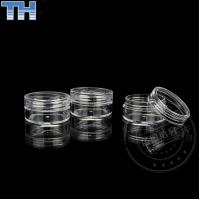 China Empty Clear Plastic Jars , Plastic Cosmetic Containers With Lids 3 / 5 / 10g on sale