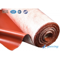China 3.5mm Red Twill Woven Silicone Coated Fiberglass Fabric wholesale