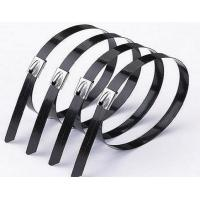 China 316 304 201 Self Locking Stainless Steel Cable Ties Polyester / Epoxy / Nylon Coating on sale