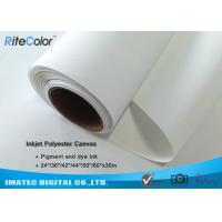 """280gsm 24 """" Printable Waterproof Polyester Canvas Rolls for Inkjet Plotter Manufactures"""