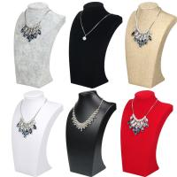 China 24*14.5cm Necklace Display Bust , Linen Ice Velvet Jewelry Necklace Holder wholesale