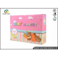 China Durable Corrugated Paper Soft Plush Toy Packaging Boxes With Window / Hand Length Handle on sale