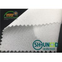 China 55GSM Fusible Woven Adhesive Liner /White  Interlining In Garments wholesale