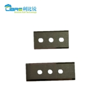 China 60mm×22mm×0.4mm 3 Hole Film Cutting Blade wholesale