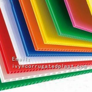 China Competitive price pe plastic corrugated sheet/plastic corflute corrugated strong sheet on sale