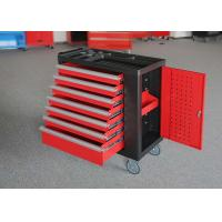 """China Durable 30"""" Lockable Tool Cabinet Red / Black / White Spcc Material wholesale"""