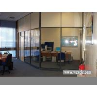 Modular Office Partitions With Famed Aluminium,Frosted / Tempered Glass , Stud Walls Manufactures
