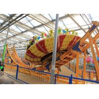 China Frp Material Amusement Park Machines , Thrilling Flying Ufo Disko Rides wholesale