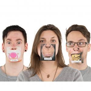 China Paper Funny Face Mat Desktop Tea Cup Coaster With Customized Design wholesale
