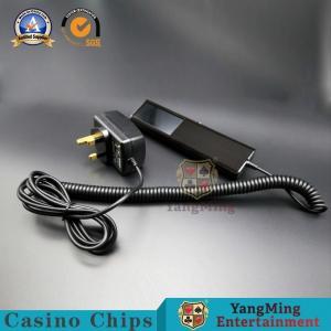 China Casino Chip Counterfeit Money Detector Machine / Gambling UV Light Poker Chips Scanner on sale
