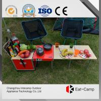 China Aluminum Alloy Folding Luggage Camping Cooking Station For Camping 7.4kgs wholesale