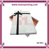 China Clothing gift paper box packaging/Elegant gift paper box with ribbon/Cardboard rigid paper box ME-TB004 wholesale