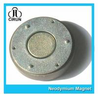 China Small Thin Custom Neodymium Magnets , Strong Round Flat Ndfeb Magnet wholesale