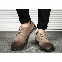 Gradient Mens Suede Lace Up Shoes , Retro Comfortable Casual Mens Shoes