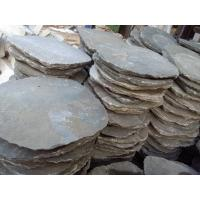 China Grey Slate Garden Stepping Stones Round Natural Paving Stone Exterior Landscaping Stone Pavers wholesale