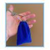 China Sewing By Hand Royal Blue Mini Velvet Drawstring Bag , Velour Bag For Gift wholesale