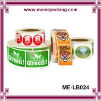 China Custom PET label stickers for jars and bottles/Paper Labels Rolls for Gifts and Crafts ME-LB024 on sale