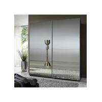 China Full Mirror High Gloss Bedroom Furniture 2.3 Meter Height Contemporary Sliding Wardrobe wholesale