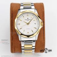 China Perfect Replica Patek Philippe White Index Dial Yellow Gold Bezel 2-Tone Oyster Band 39mm Watch on sale