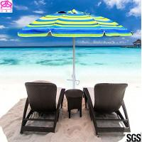 Buy cheap Heavy Duty 7 Ft Uv Protection Sun Beach Umbrella With Air Vent Top from wholesalers