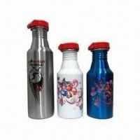 China (18/8, 18/0) 201 stainless steel (304 is available) water bottles, silkscreen logo printing wholesale