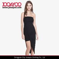 China Women Strapless Straight Neckline Ruching Left Side Cocktail And Evening Dress wholesale