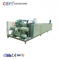 Buy cheap Block Ice Maker Machine with Semi Hermetic Compressor , Danfoss High and Low Pressure Meters from wholesalers