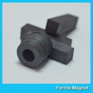 China Ferrite Ceramic Round Magnets Ring Shaped For Speaker / Motor / Sensor wholesale