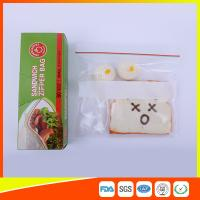 China Custom Resealable Plastic Sandwich Bags With Write Panel , Zip Lock Pouch Bags wholesale
