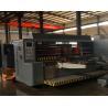 China Corrugated Carton Box Lead Edge Feeder Slotter Machine / Carton Box Making Machine wholesale
