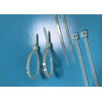 China White PA66 Nylon Cable Ties Length 100mm Width 3.6mm 27 Lbs Tensile Strength wholesale