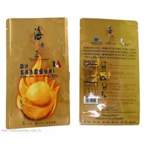 Fish Plastic Food Packaging Bags Customized Logo / Size Gravure Printing Zipper Top