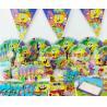 China SpongeBob theme party set kids birthday party suppliers child Decoration evening party set celebration decoration wholesale