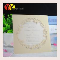 China 2016 festival party handmade indian wedding greeting card with printing information wholesale