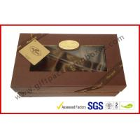 Quality Luxury Chocolate Color Packaging Gift Boxes , Top and Base Box With Window Package for sale