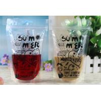 Quality Clear Transparent Resealable Plastic Bag For Liquid Packing Self - Reliance for sale