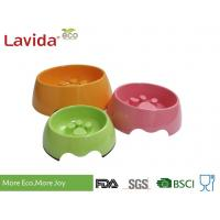 China Custom Made Solid Color Melamine Pet Bowl , Pet Feeding Bowls With Logo And Print wholesale