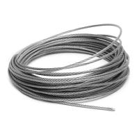 Buy cheap 6mm SS 304 Steel Wire Rope 7x37 For Crane / Bicycle Fittings / Kitchen from wholesalers
