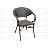 China Outdoor Dining Chairs Commercial Synthetic Bamboo Painted Textilene Mesh Chair wholesale