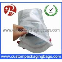 China Eco Water - proof Drawstring Plastic Bags , Customized Drawstring Bags With Bottom Gusset on sale