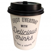 China 9oz Disposable Coffee Hot Drink Foam Cup With Lid wholesale